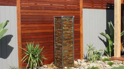 Greenscene Environmental Solutions - Merbau Screen Water Feature