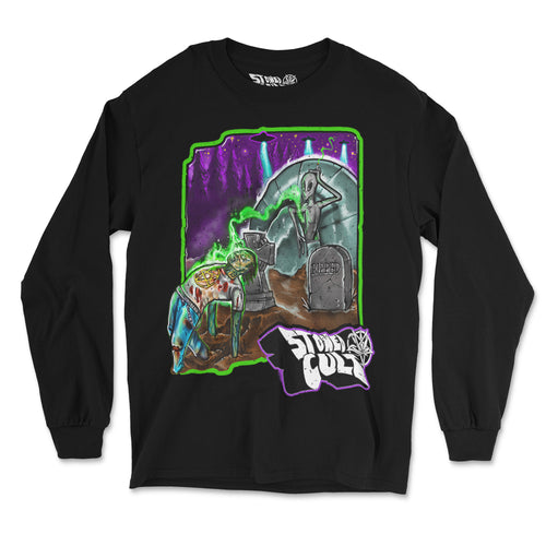 """Bob Zombie"" Long Sleeve Shirt - Stoned Cult Apparel"