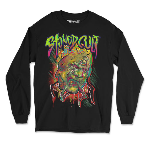 """Facemelt"" Long Sleeve Shirt - Stoned Cult Apparel"