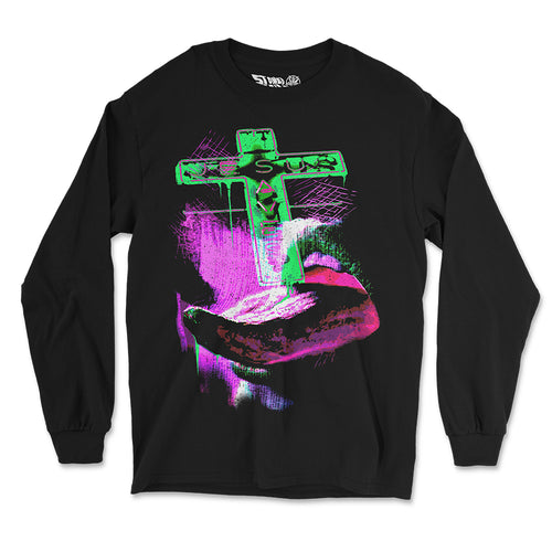 """Jesus Saves"" Long Sleeve Shirt - Stoned Cult Apparel"