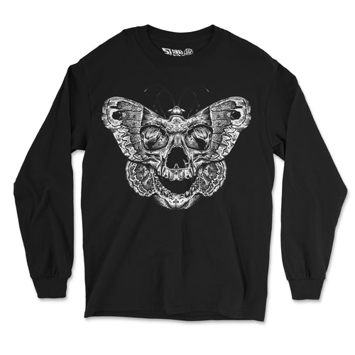 """Moth to Flame"" Long Sleeve Shirt - Stoned Cult Apparel"