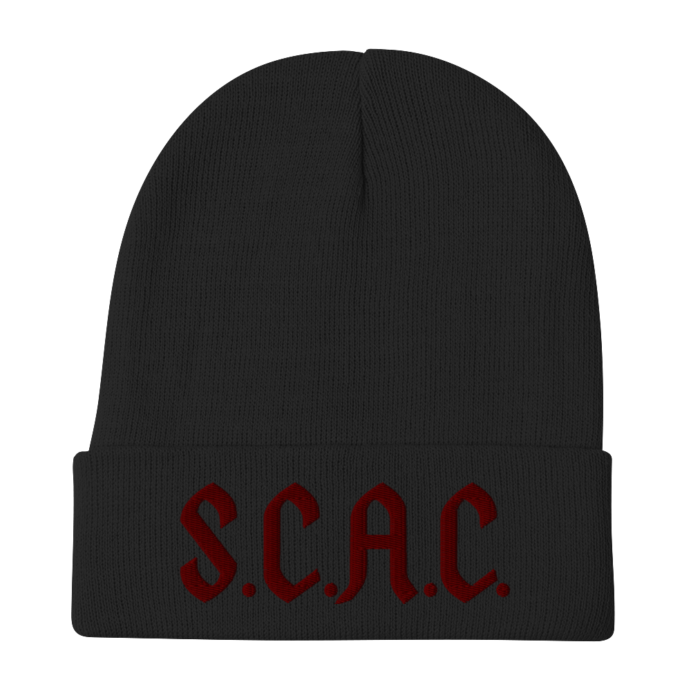 """S.C.A.C."" Beanie - Stoned Cult Apparel"