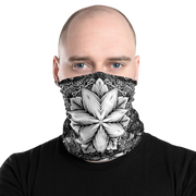 """White Dahlia"" Neck Gaiter - STONED CULT APPAREL"