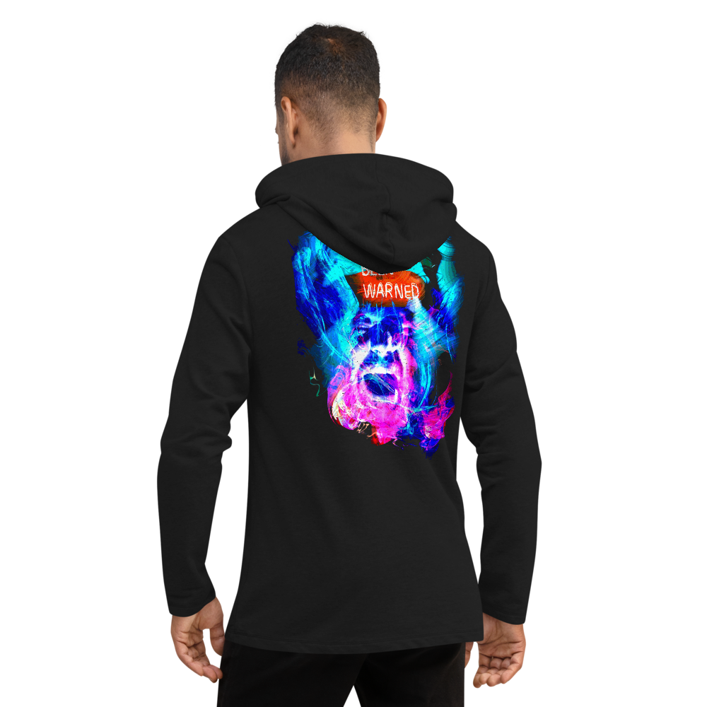 """Warning"" Lightweight Hoodie - Stoned Cult Apparel"