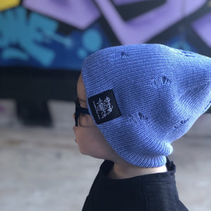 Distressed Slouch Beanie - Serenity Blue