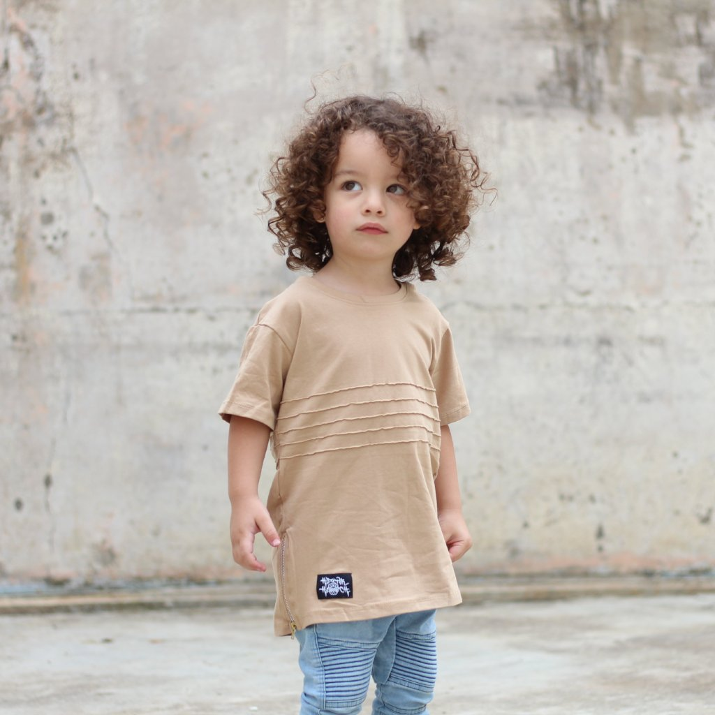 Ribbed tee for babies or kids