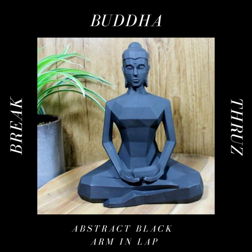 Abstract Black Buddha Arms Lap