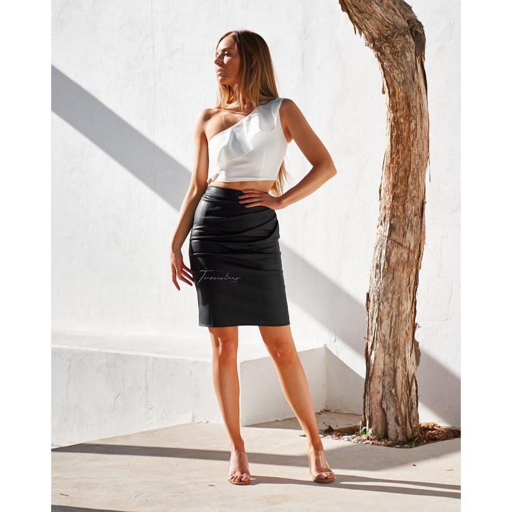 Pink Venom:Maison Skirt - Black,Womens Skirt