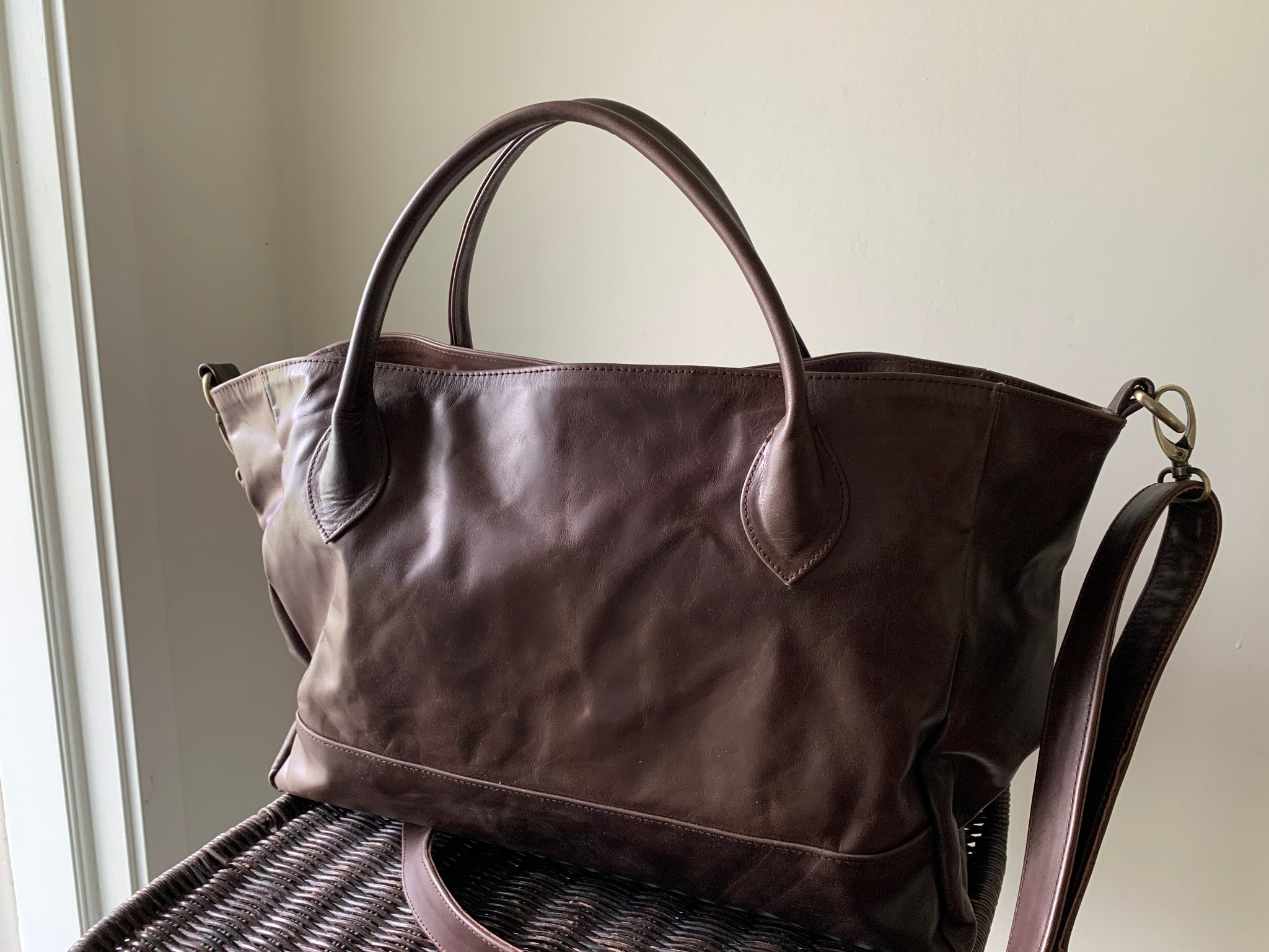 The Patron - Leather shoulder tote bag. READY TO SHIP