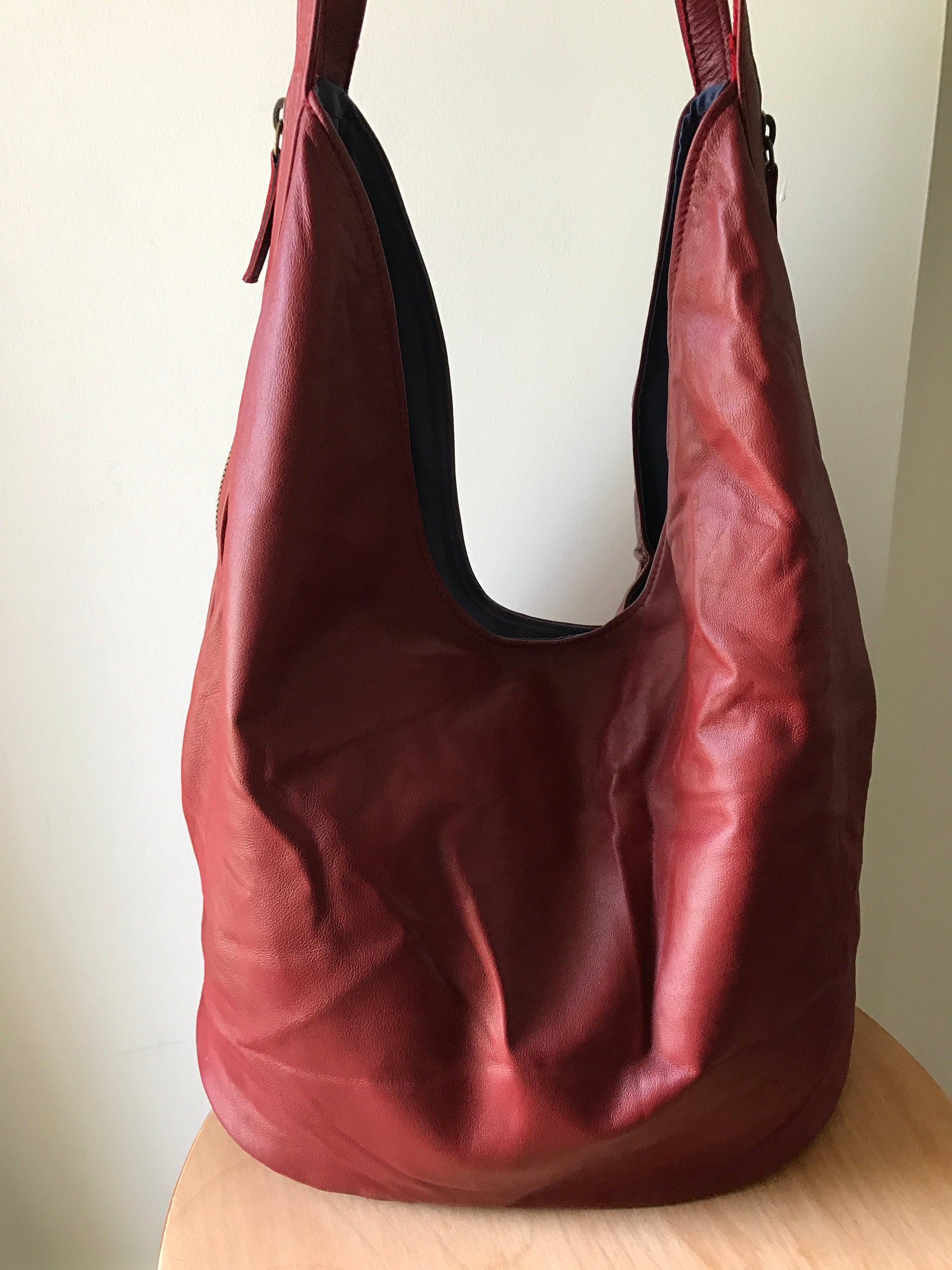The Shift Bag - Soft, supple handbag pocketbook tote. Two toned and easy to open