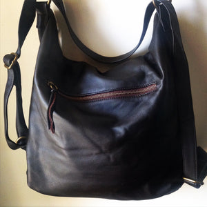 The Bolster - Leather backpack convertible bag.Shoulder tote made from leather.