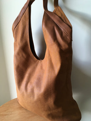 The Sac - Soft slouchy hobo genuine leather handbag.