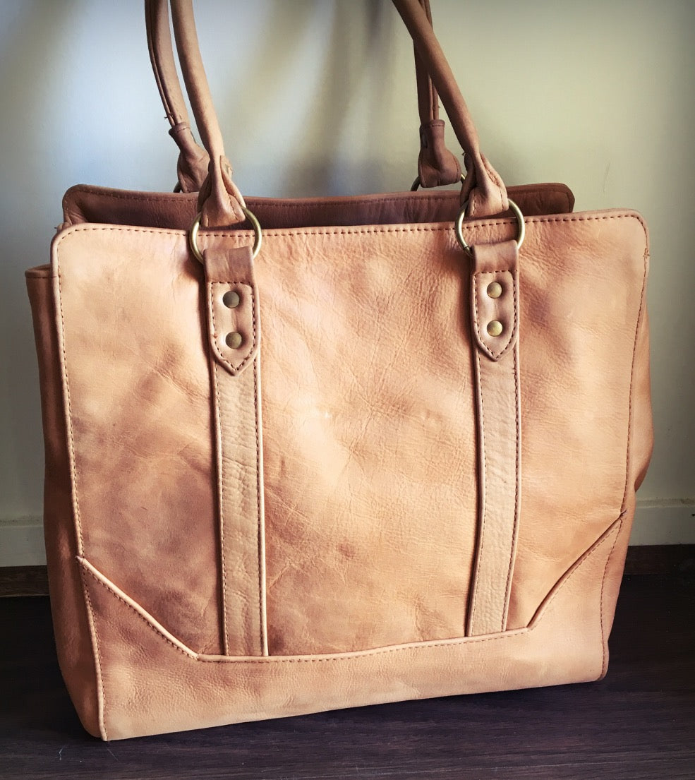 The Attache - Traditional Leather Tote Bag!