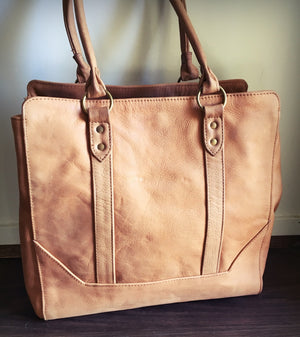 The Attache - Timeless handmade classic durable traditional shoulder Tote Bag