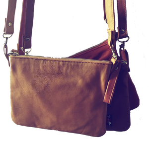 The Hipster - Real leather functional mini bag crossbody bag.