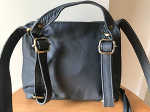 The Shadow Backpack - Backpack convertible leather bag.