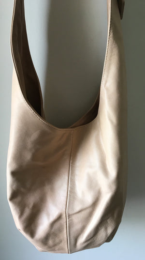 The Slingshot - Slouchy, hobo style soft leather handbag, handmade shoulder bag.