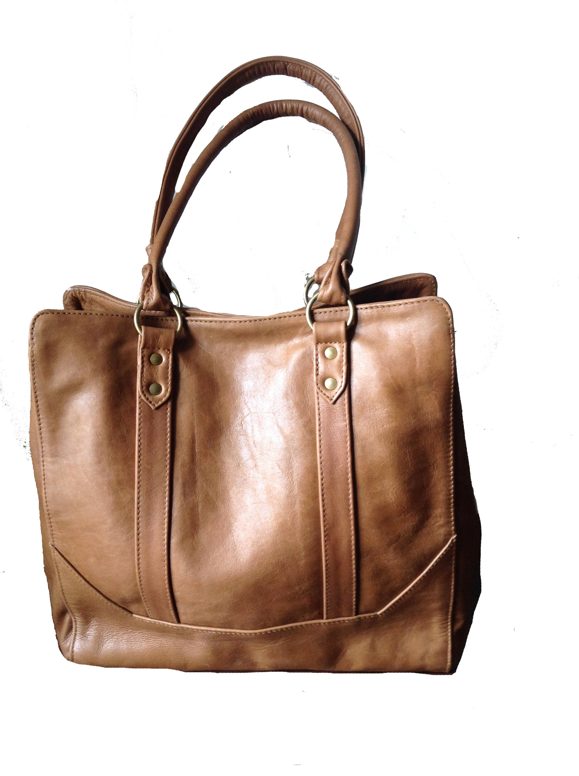 The Attache Tote - Timeless handmade classic,traditional shoulder Tote Bag.
