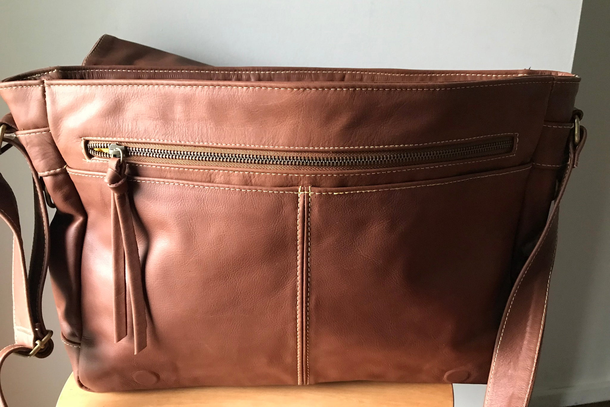 The Plain Satchel - laptop leather satchel work bag.