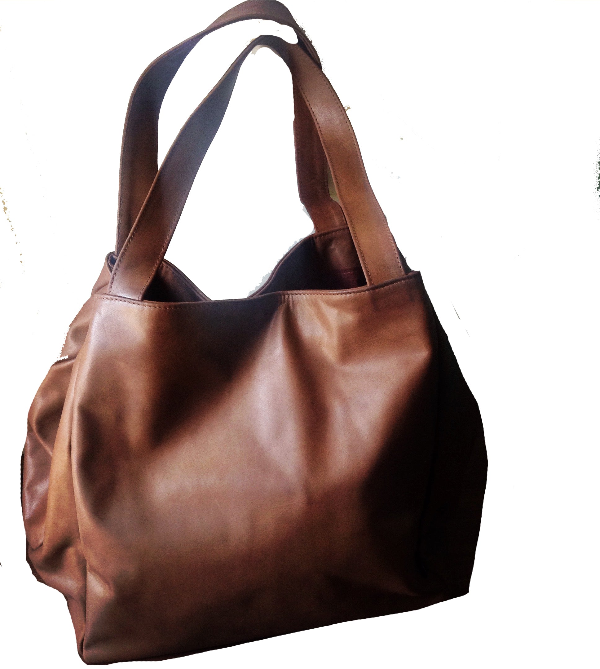 The Gigi - Extra Large genuine leather tote bag. Square shaped Travel bag d8a61f22693da