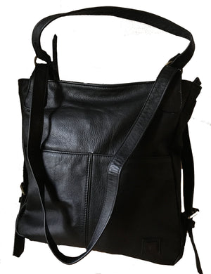 The Holster-Convertible leather backpack bag.