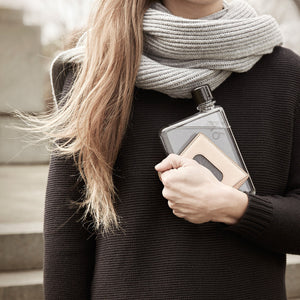 THE FLAT WATER BOTTLE -MEMOBOTTLE Perfect for handbags. memobottle A6 and A5 BPA free.