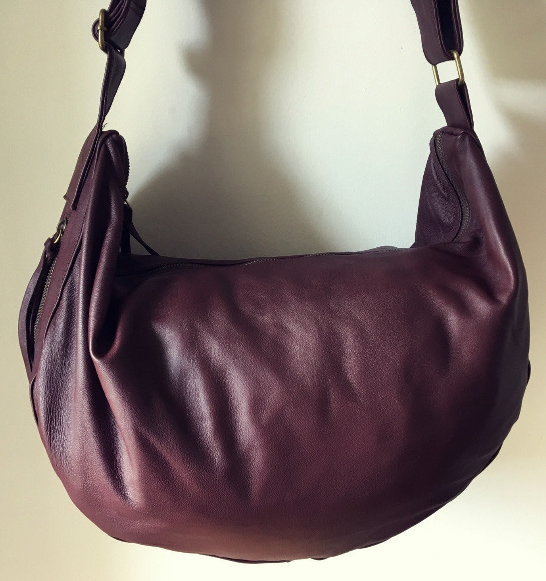 The Bend-Curved soft and slouchy handmade leather handbag
