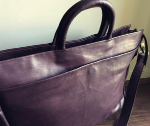 The Task - Laptop compendium bag, genuine leather,computer tote bag.