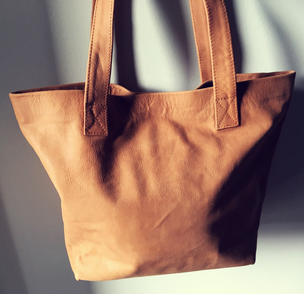 e41ceab72a63 The Angle Tote - Brown classic shoulder tote handbag.Handmade leather tote