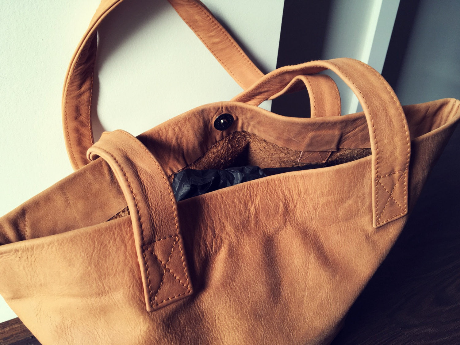The Angle Tote - Brown classic shoulder tote handbag.Handmade leather tote b1442cad6ad8c