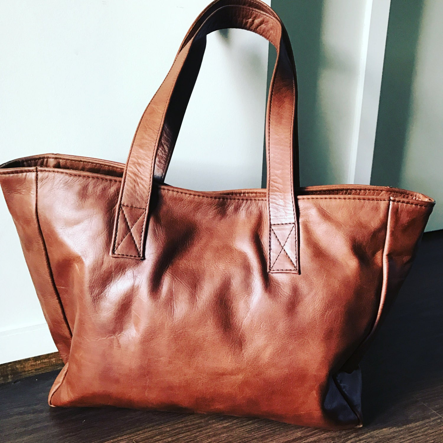 The Total Tote-Leather Tote Bag.Beautifully Handmade from genuine leather.