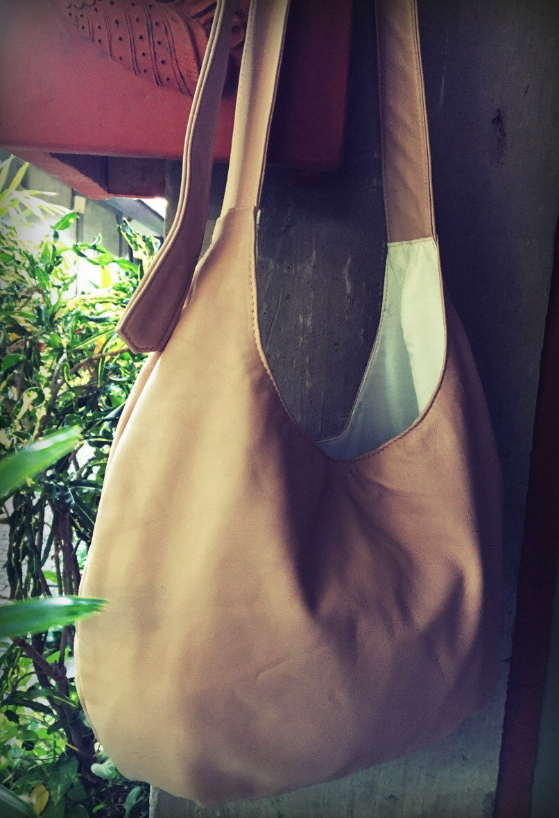 The Pear Bag - Hobo, slouchy,genuine leather handbag tote.