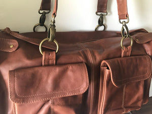 The Maker -Extra large, super soft, genuine leather bag. Loads of space and pockets.