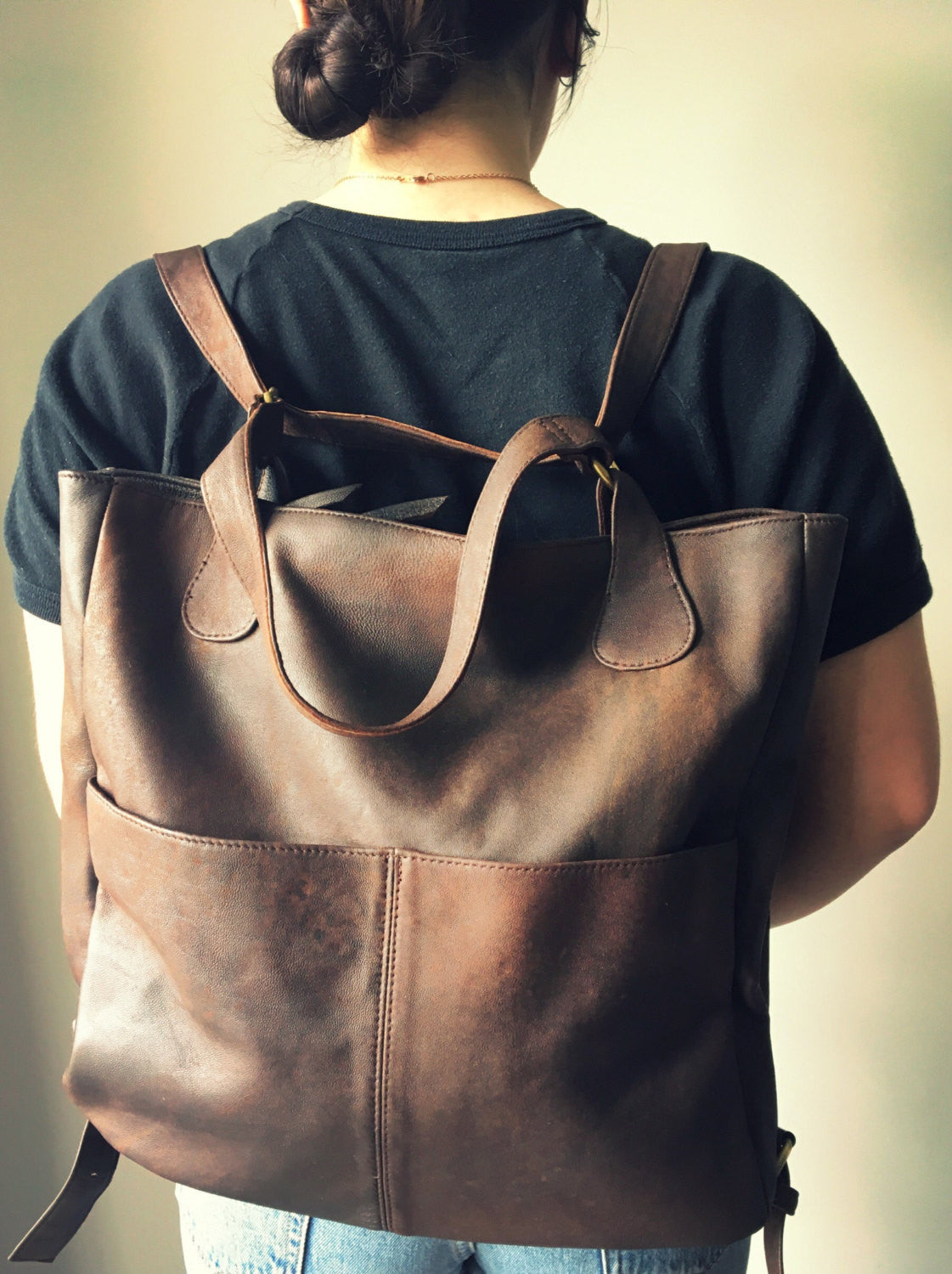 The Holster- Handmade soft, perfect for a laptop or travel bag.