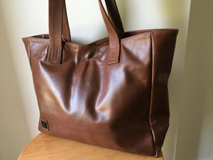 The Total -Classic, classy leather tote,super soft leather.