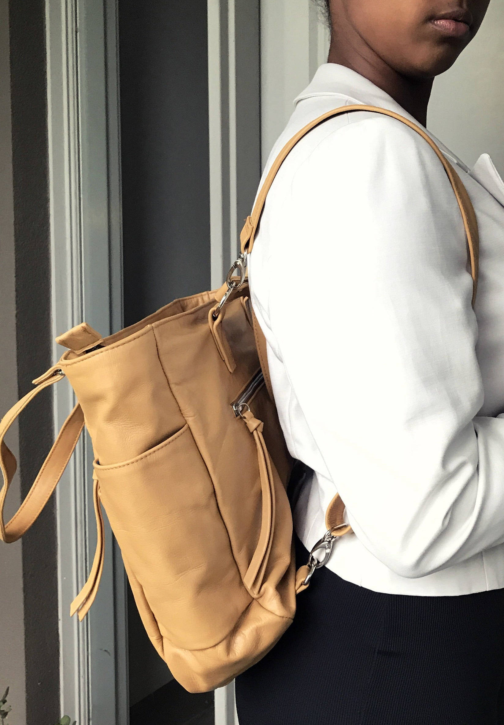 The Envoyage Backpack - Leather tote backpack bag
