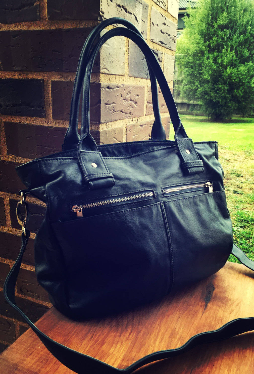 The Envoy - Work leather tote bag.
