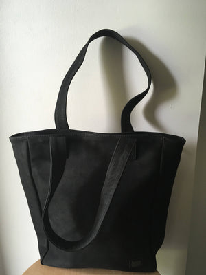 The Tall Total - Black Leather tall Tote,Leather tote bag.Handmade leather tote.