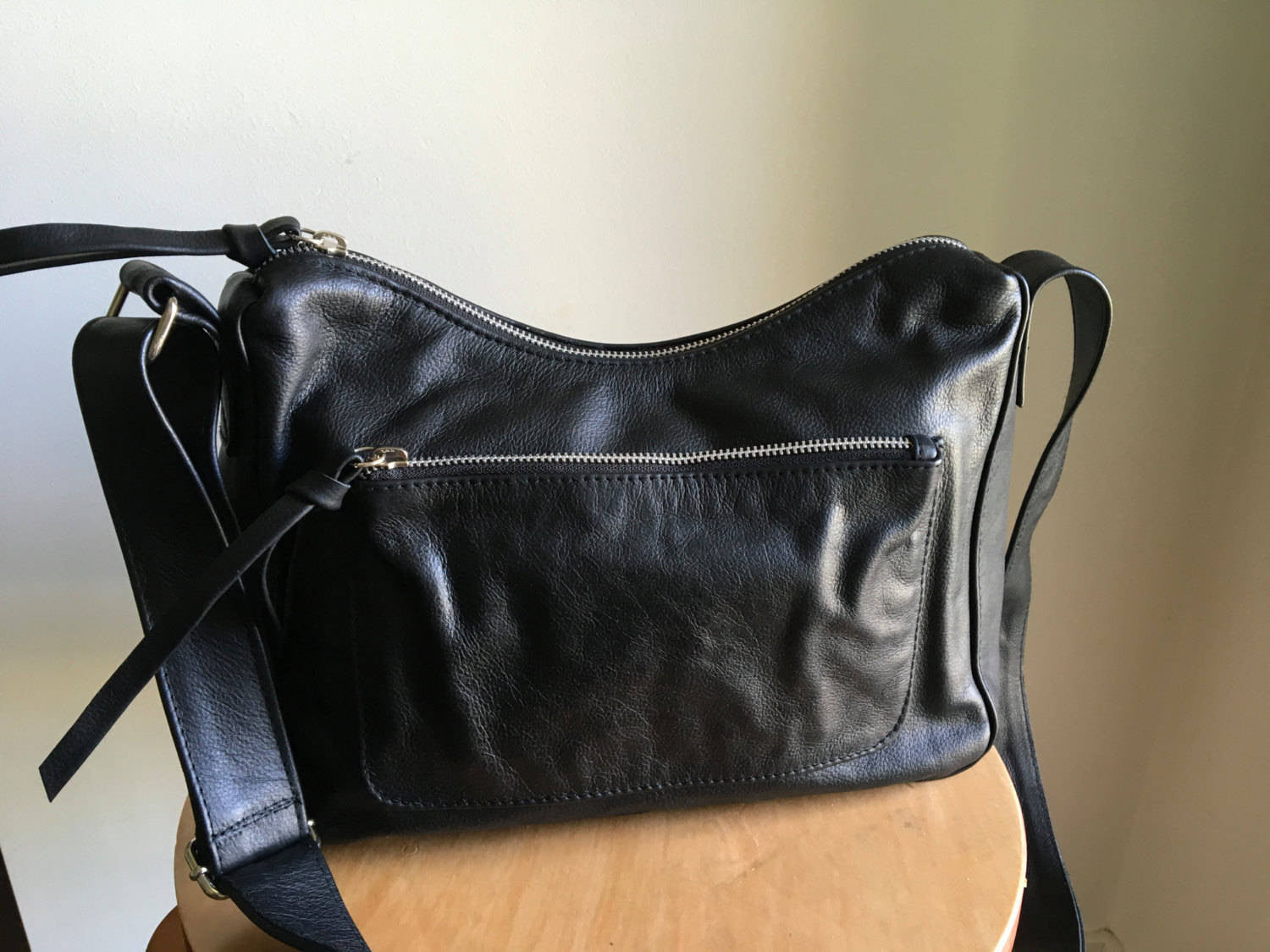 The Mini Sender - Slouchy hobo style handmade bag with wide crossbody strap