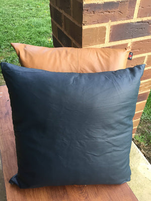 The Adele - Leather Cushion Covers made from Genuine Lambskin