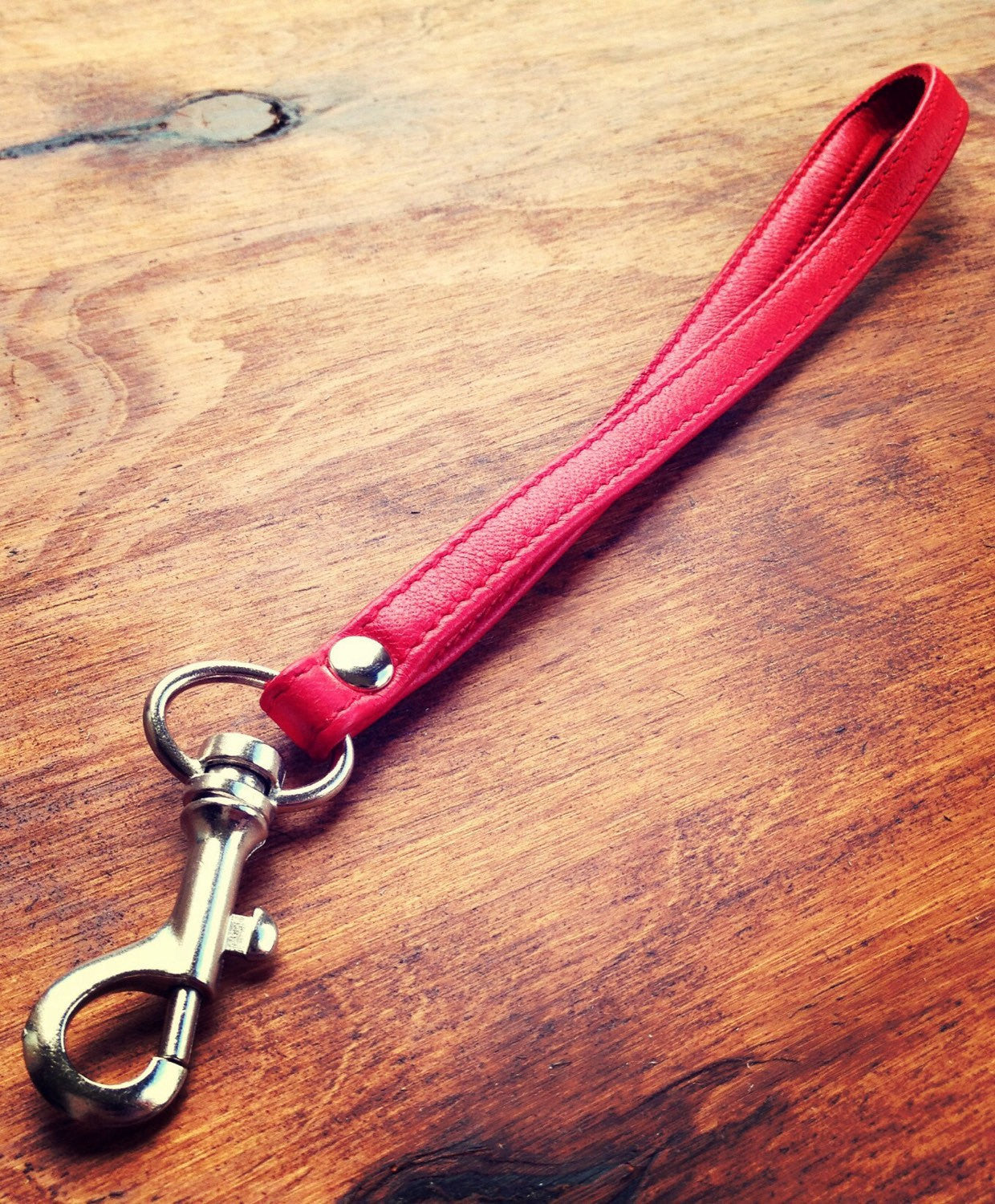 The Strap-Leather Key Strap perfect for keeping your keys handy in your bag.