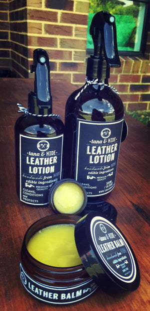 Leather Lotion. 250mls. Spray Bottle. Moisturise your leather goods just like your skin.