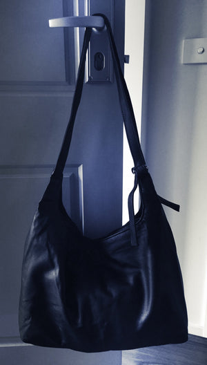 The Duet - Extra large soft leather tote.