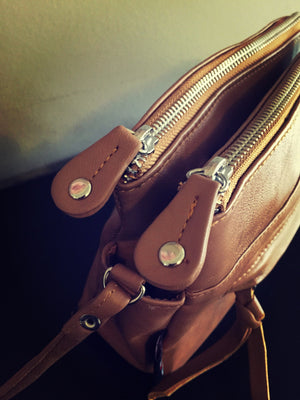 The Mimi-Genuine Leather,stunning,functional cross body bag.Lots of compartments.