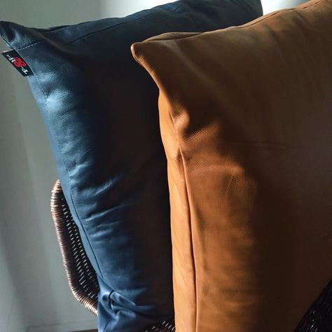 The Adele-Genuine Lambskin Leather Cushion Covers.