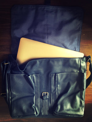 The Folio-Computer, laptop leather satchel work bag.