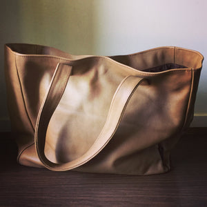 The Total - Real Leather Tote. Handmade classic handbag