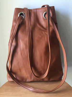 The Glide-Crossbody leather bag, Converts to backpack.