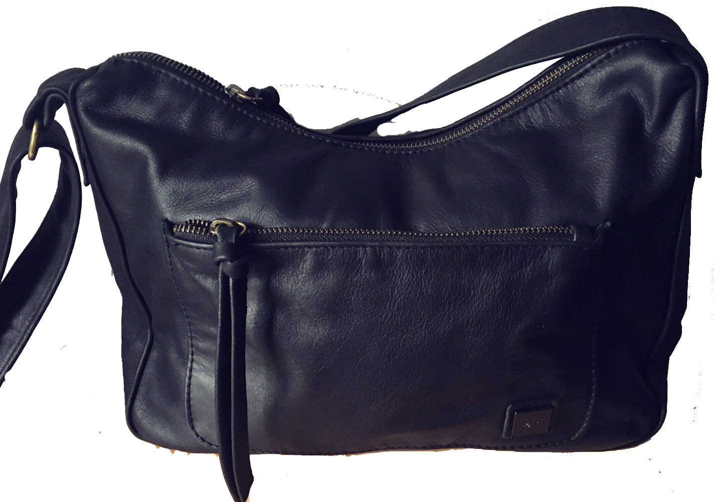 8d6622f349 The Mini Sender-Curved slouchy hobo style handmade bag with wide crossbody  strap.