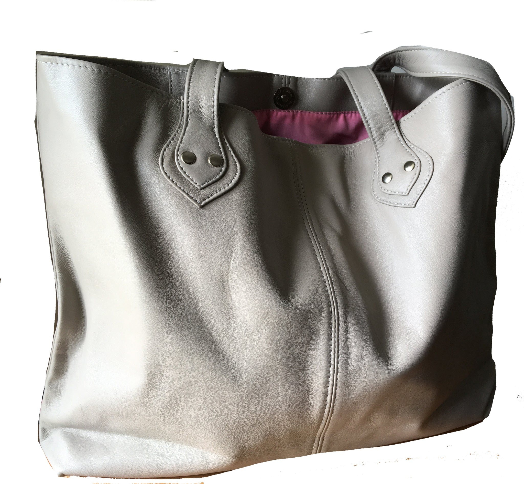The Short Shopper - Perfect Leather Tote Bag. Quality, shorter,shoulder bag.
